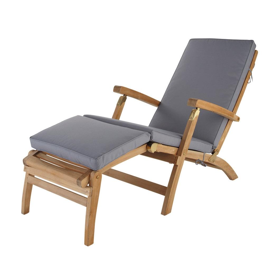 matelas pour chaise longue gris ol ron maisons du monde. Black Bedroom Furniture Sets. Home Design Ideas
