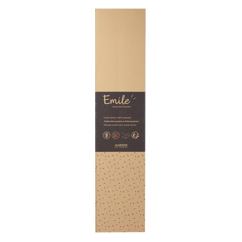 Materasso arrotolato in schiuma di poliuretano, 160x200 cm Emile ...