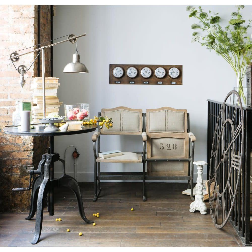 Mesa de comedor bistrot redonda de metal negra D. 75 cm Edison ...