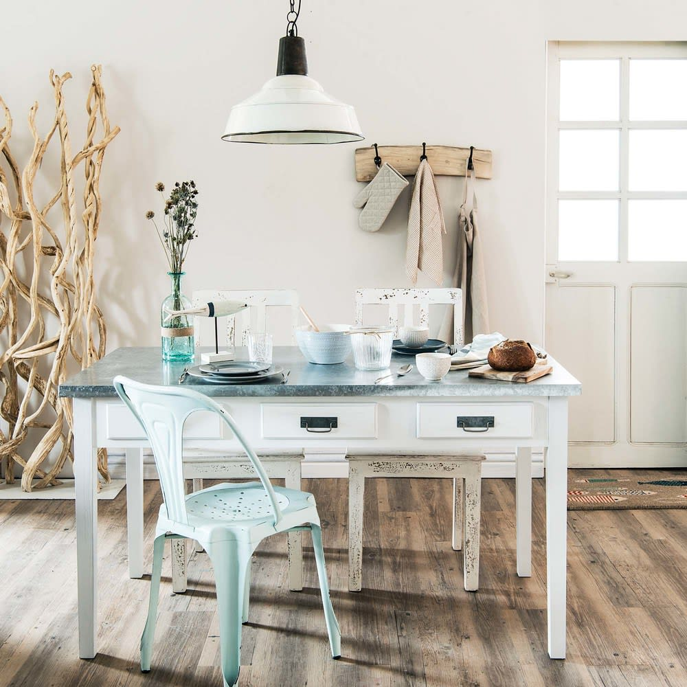 Mesa de comedor blanca An.140 Sorgues   Maisons du Monde