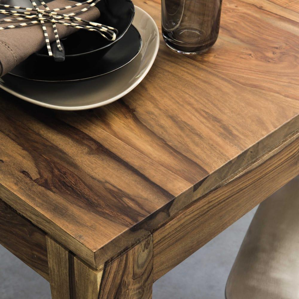Mesa de comedor cuadrada de madera de maciza de palo rosa L.140 ...