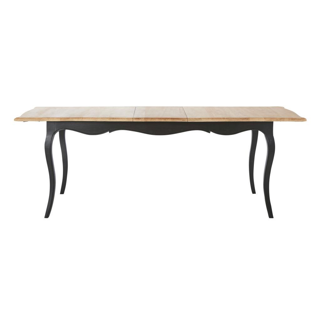 Mesa de comedor extensible de madera de mango An. 180 cm Versailles ...