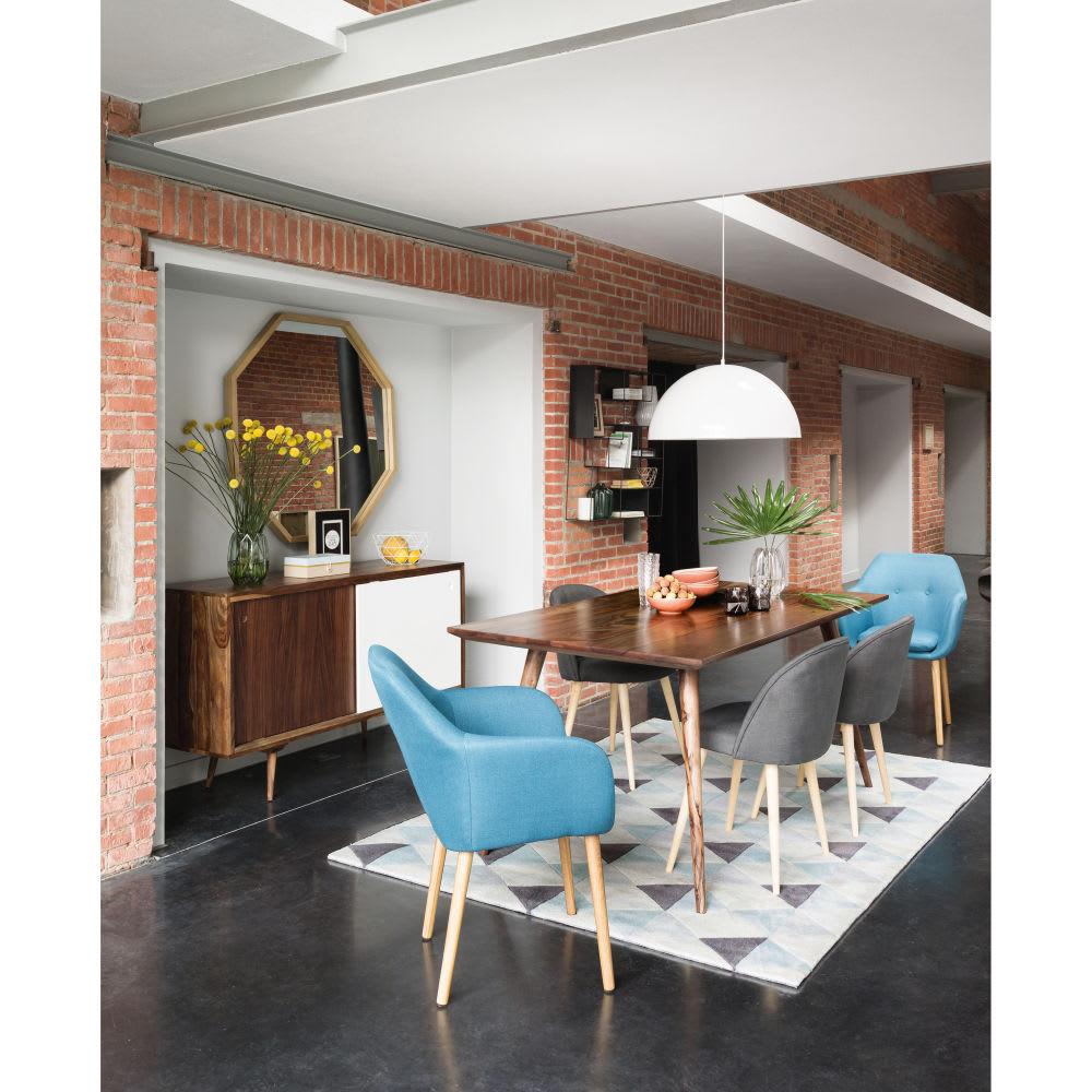 Mesa de comedor vintage de madera maciza de palo rosa L. 175 ...