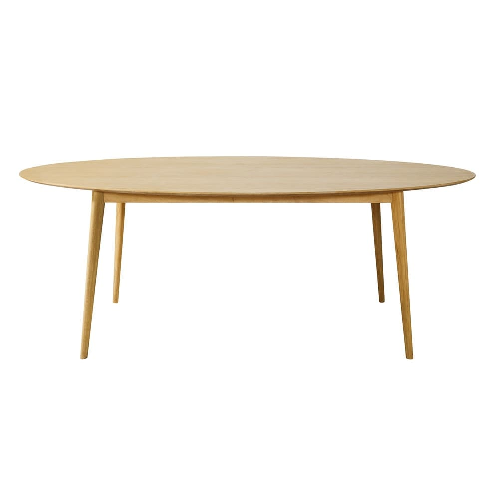 Mesa de comedor vintage ovalada para 6/8 personas An.210 Elwood ...
