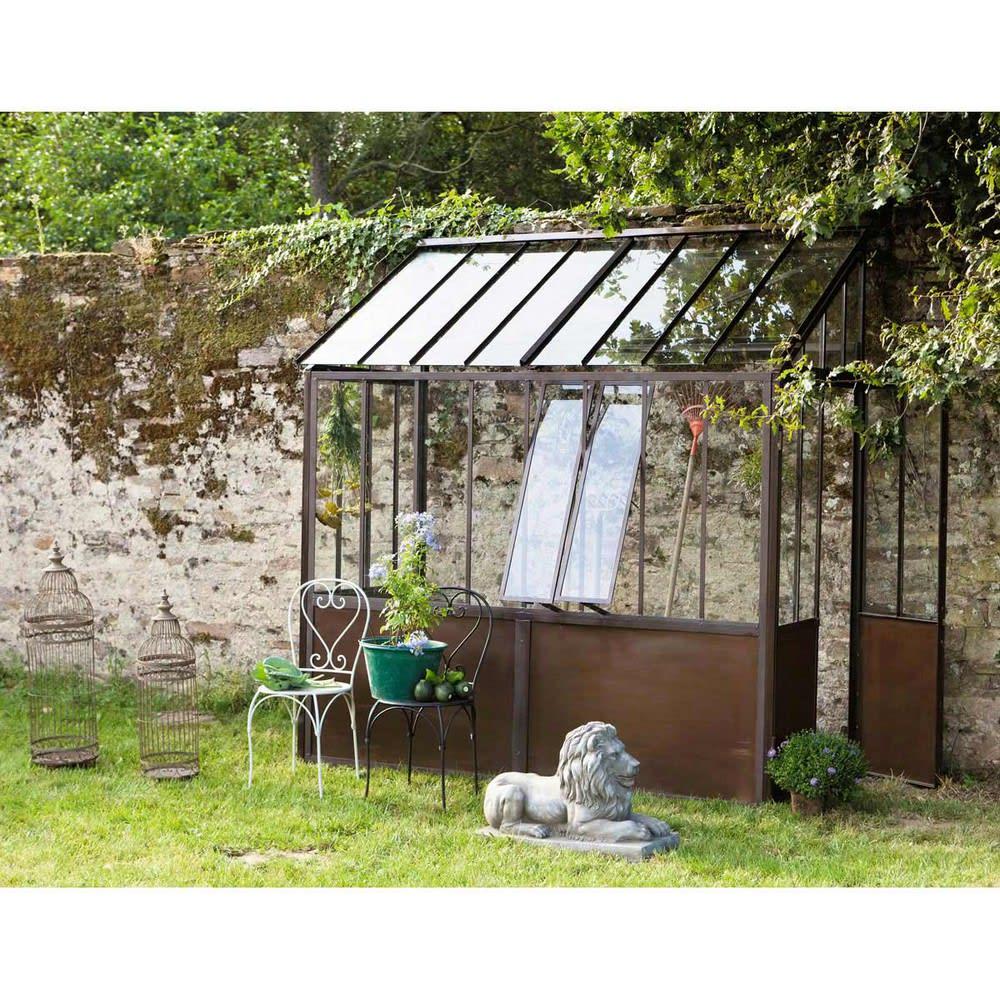 metalen halve serre met roesteffect h245 tuileries. Black Bedroom Furniture Sets. Home Design Ideas