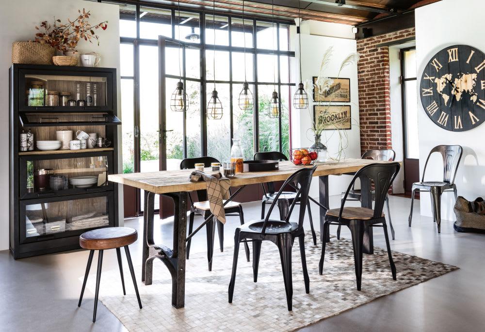 Tavolo Industriale Maison Du Monde : Metallstuhl im industrial stil schwarz multipls maisons du monde