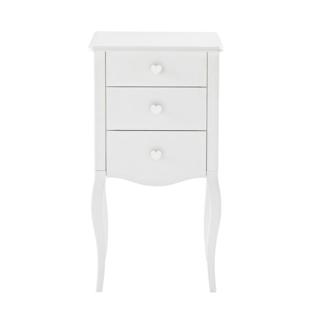 lilly - meuble à bijoux 2 tiroirs blanc