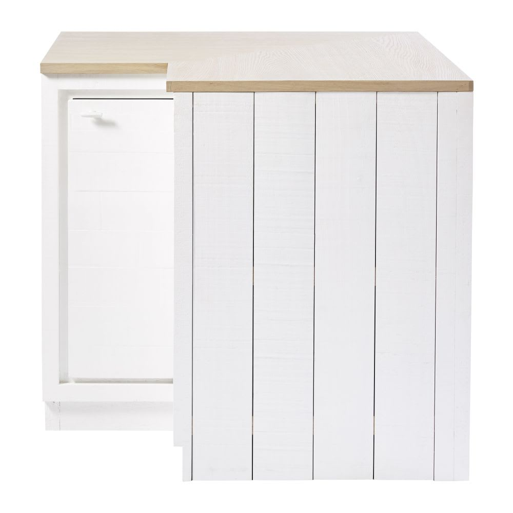 meuble bas d 39 angle de cuisine 1 porte blanc embrun maisons du monde. Black Bedroom Furniture Sets. Home Design Ideas