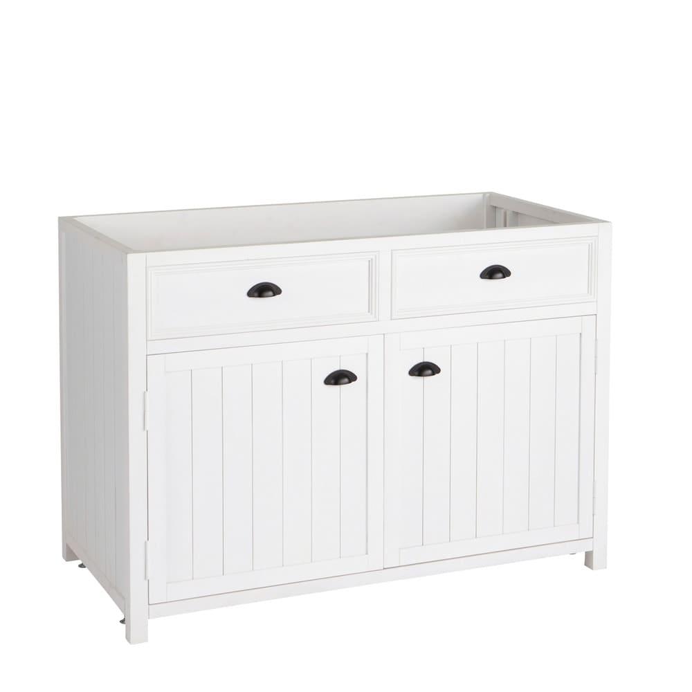meuble bas de cuisine en pin blanc l120 newport maisons. Black Bedroom Furniture Sets. Home Design Ideas