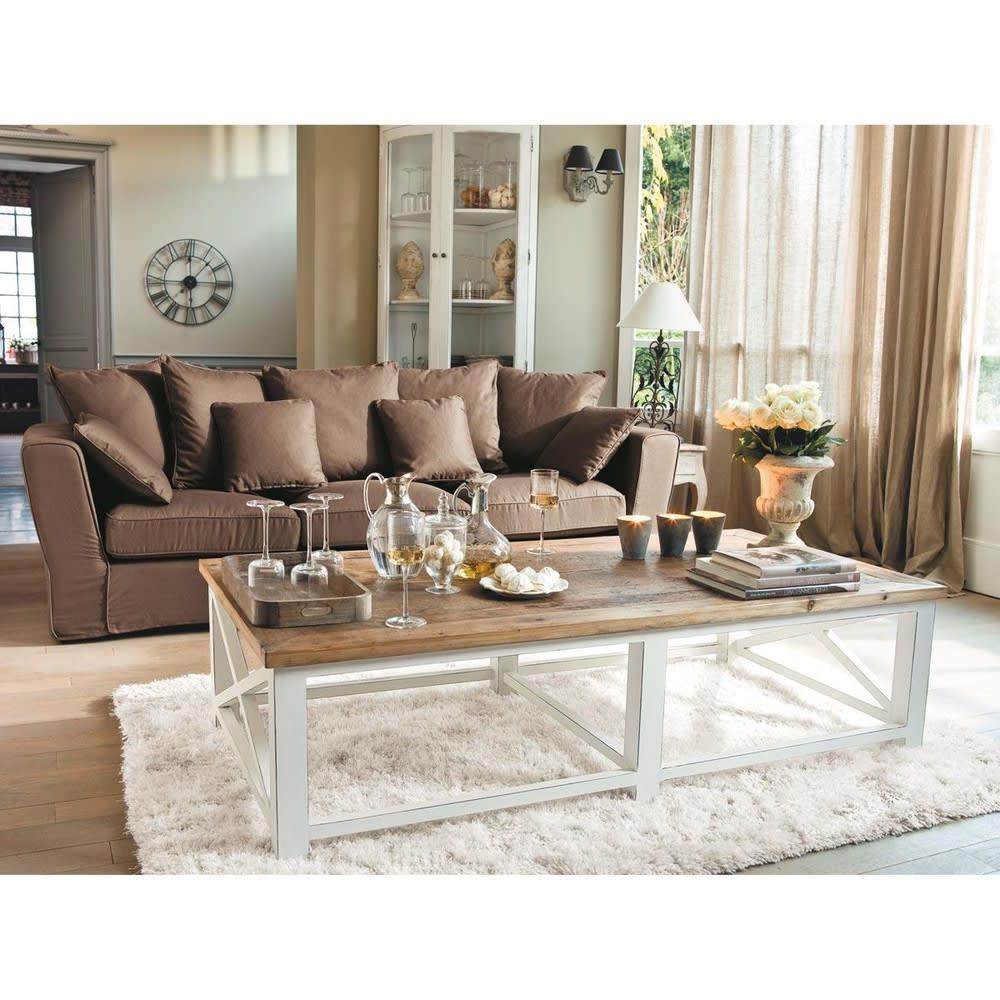 meuble d 39 angle en bois blanc l 68 cm sologne maisons du. Black Bedroom Furniture Sets. Home Design Ideas