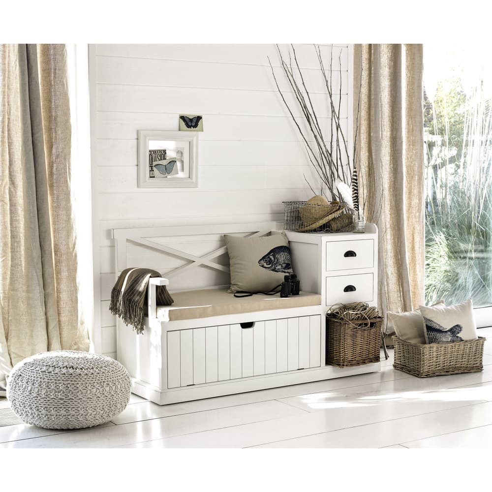 meuble d 39 entr e blanc freeport maisons du monde. Black Bedroom Furniture Sets. Home Design Ideas