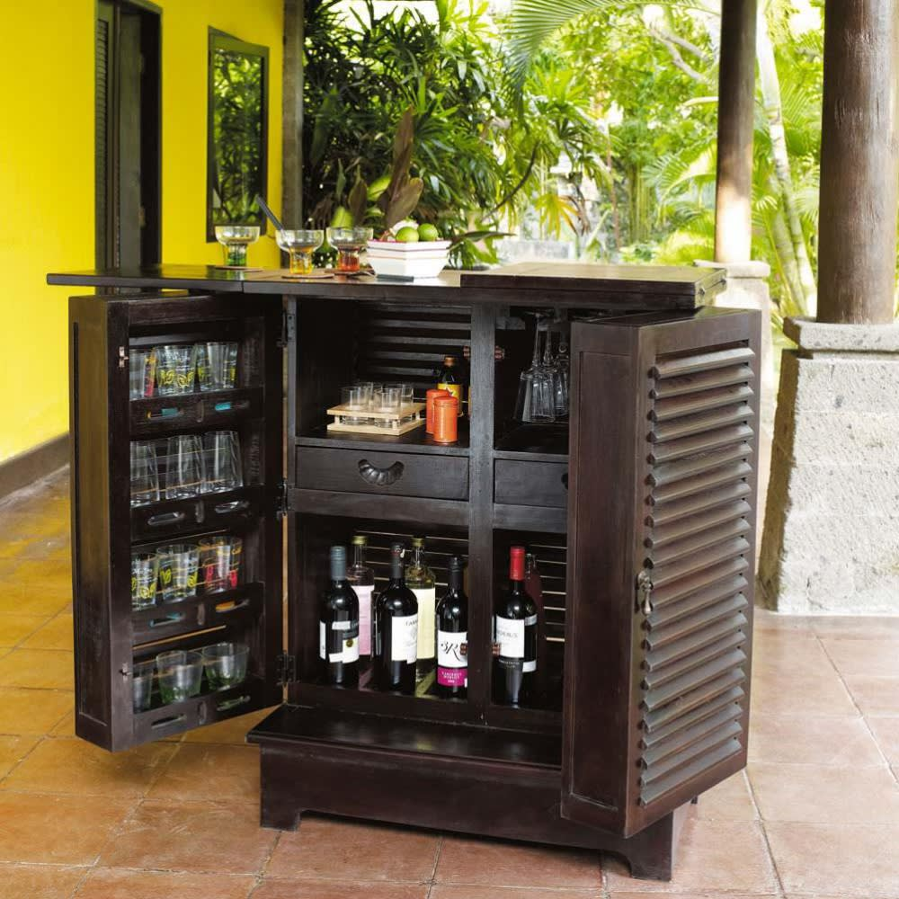 meuble de bar en mahogany massif l 80 cm planteur. Black Bedroom Furniture Sets. Home Design Ideas