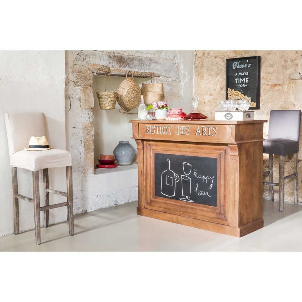 meuble de bar en manguier massif bistrot maisons du monde. Black Bedroom Furniture Sets. Home Design Ideas