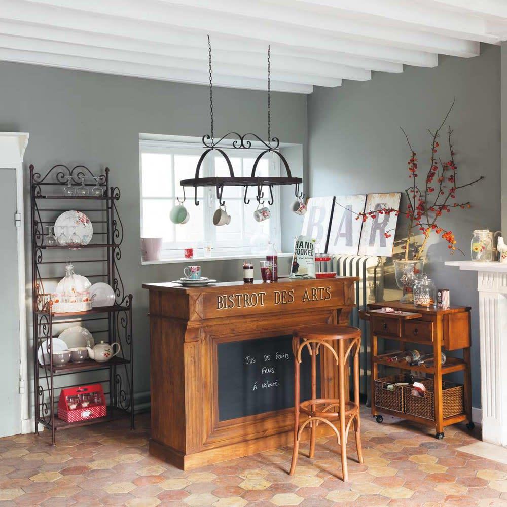 meuble de bar en manguier massif bistrot maisons du monde. Black Bedroom Furniture Sets. Home Design Ideas