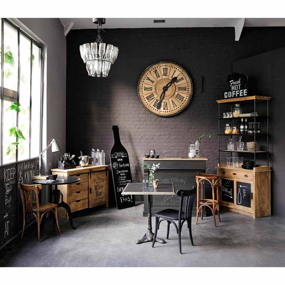 meuble de bar gris charbon germain maisons du monde. Black Bedroom Furniture Sets. Home Design Ideas