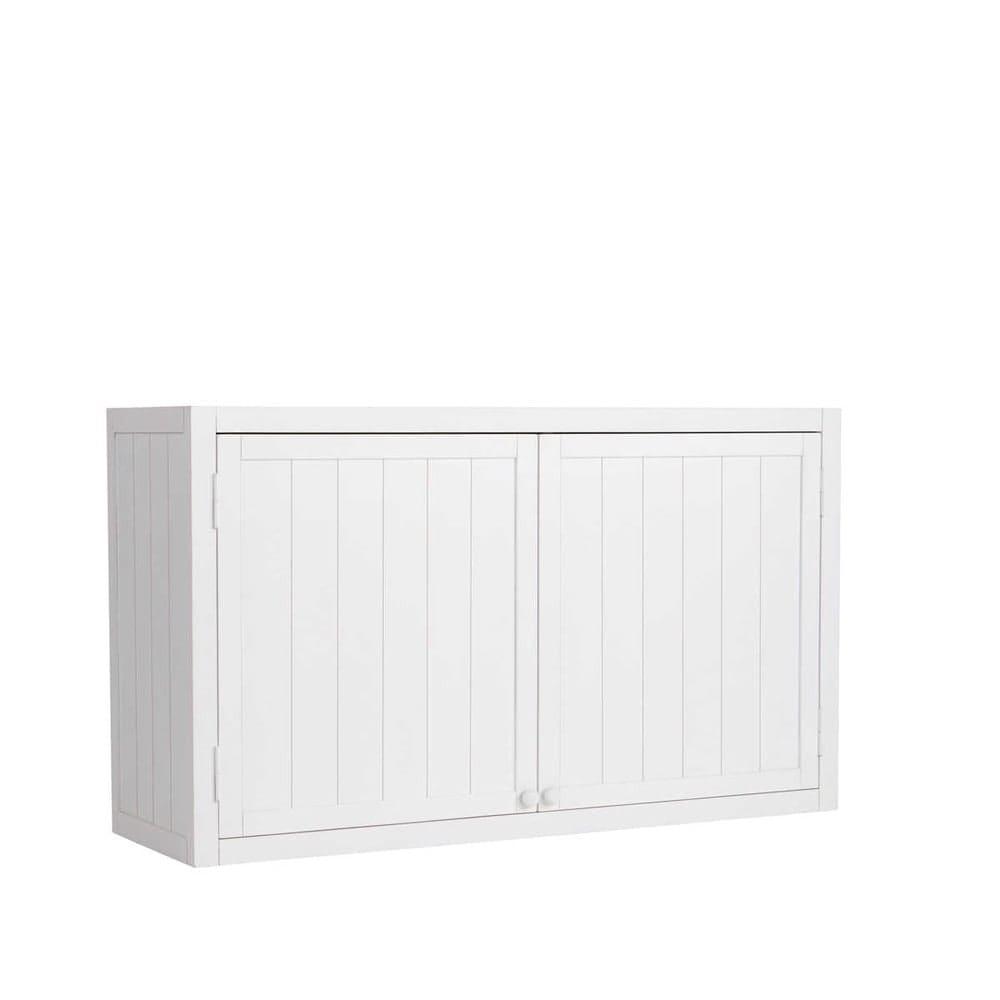 Meuble haut de cuisine en pin blanc L120 Newport | Maisons ...