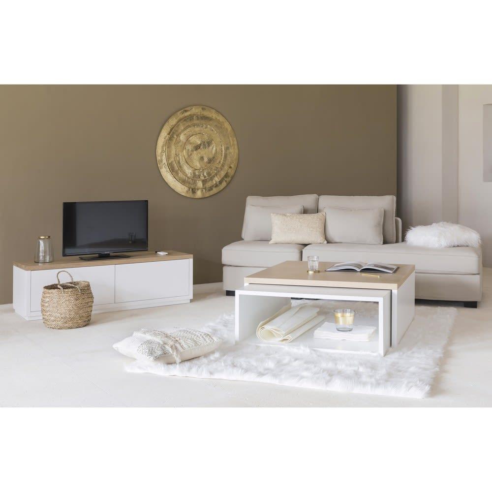 Meuble TV 2 portes blanc L140 Austral | Maisons du Monde