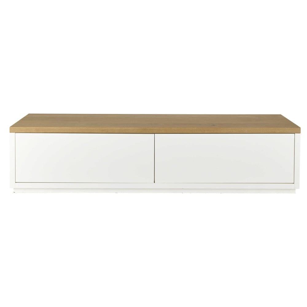 Meuble TV 2 portes blanc L180 Austral   Maisons du Monde