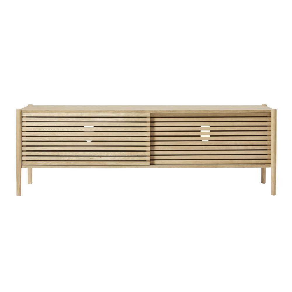 meuble tv 2 portes coulissantes okinawa maisons du monde. Black Bedroom Furniture Sets. Home Design Ideas