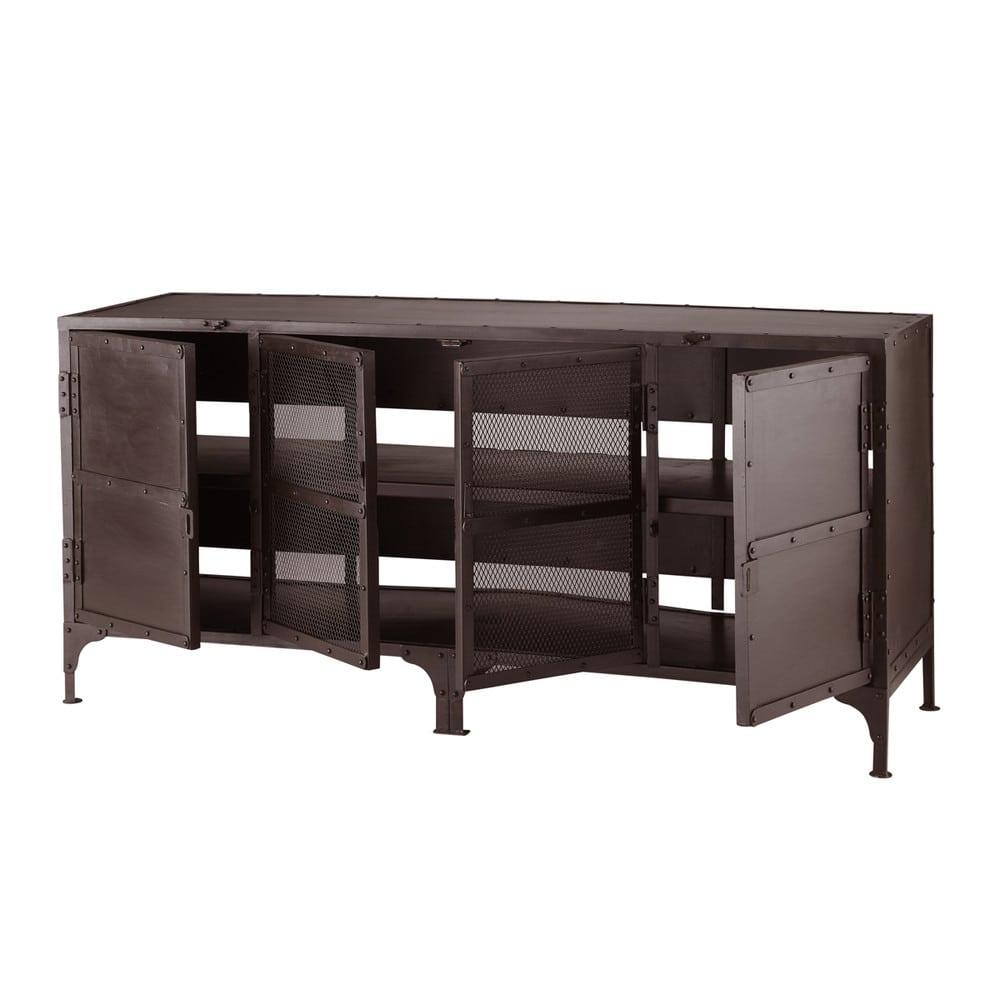 meuble tv en m tal l 155 cm stalingrad maisons du monde. Black Bedroom Furniture Sets. Home Design Ideas