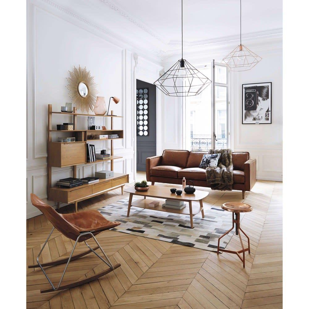 meuble tv  u00e9tag u00e8re vintage en ch u00eane massif portobello