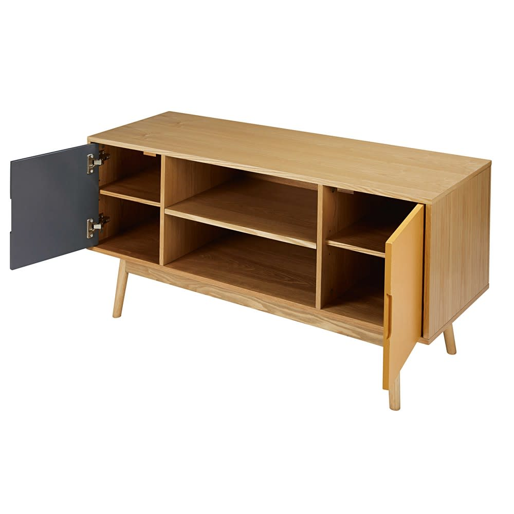meuble tv vintage 2 portes tricolore fjord maisons du monde. Black Bedroom Furniture Sets. Home Design Ideas