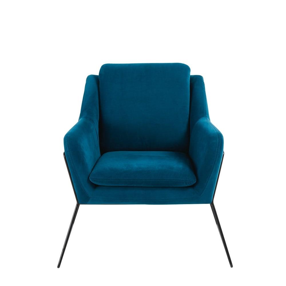 Midnight Blue Velvet Armchair Jasper