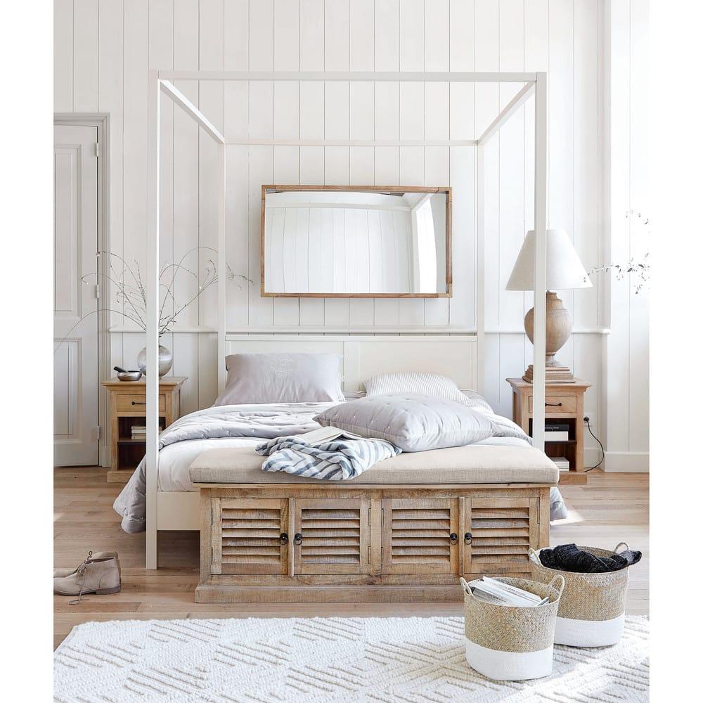 miroir en manguier et m tal dor 69x120 assam maisons du. Black Bedroom Furniture Sets. Home Design Ideas