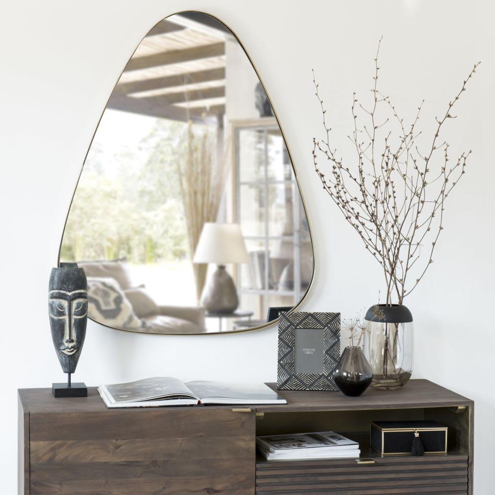 miroir en m tal dor 80x101 shelby maisons du monde. Black Bedroom Furniture Sets. Home Design Ideas