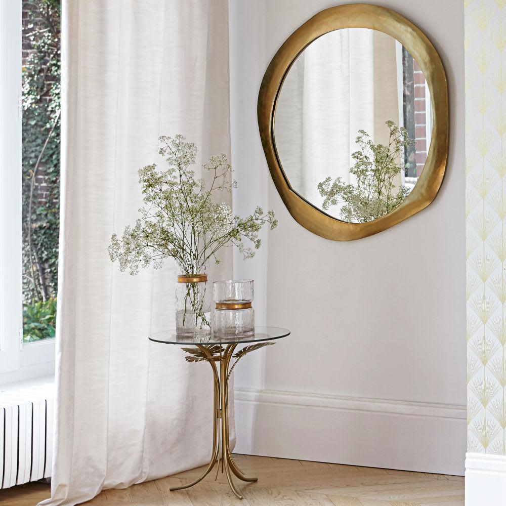 miroir en m tal dor 85x89 ramaan maisons du monde. Black Bedroom Furniture Sets. Home Design Ideas