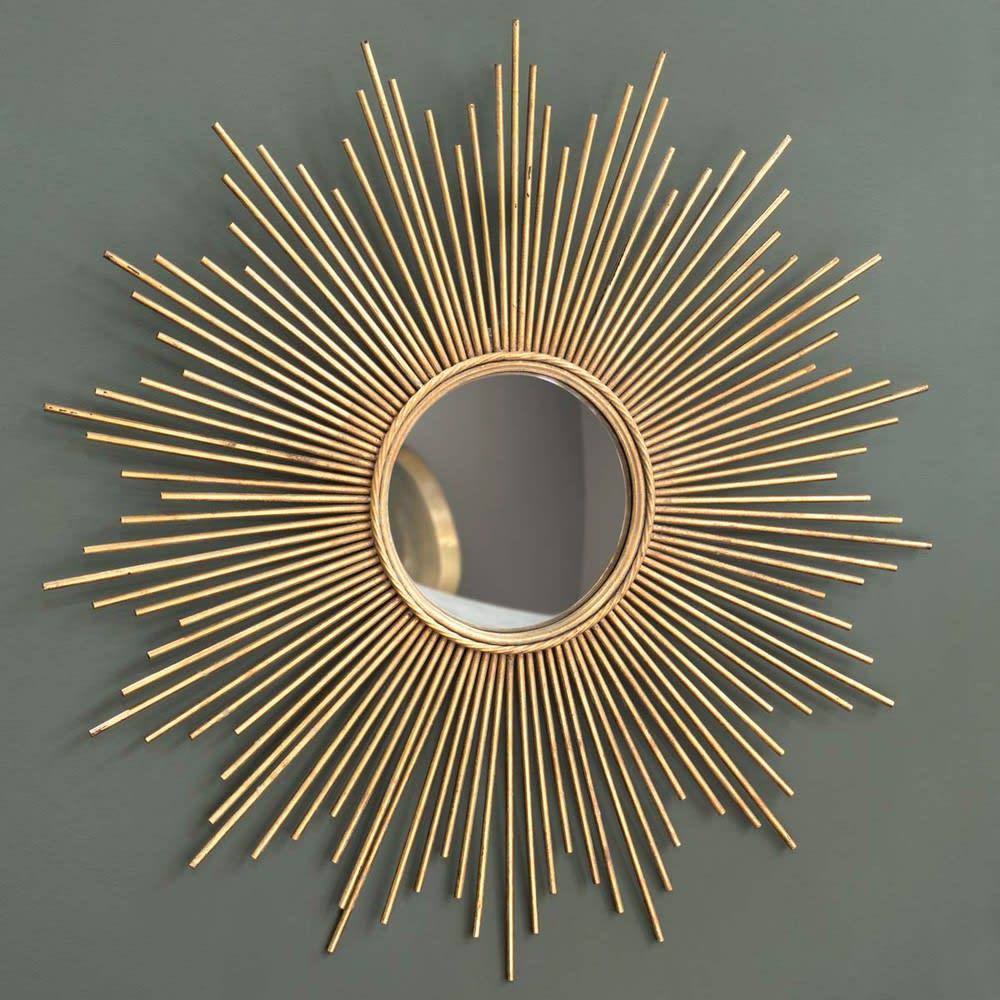 Miroir En Metal Dore D99 Magellan Maisons Du Monde