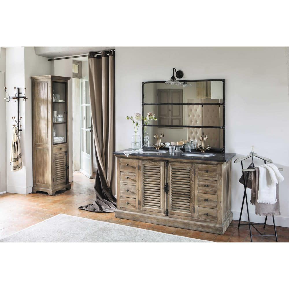 miroir en m tal effet vieilli 95x120 cargo maisons du monde. Black Bedroom Furniture Sets. Home Design Ideas