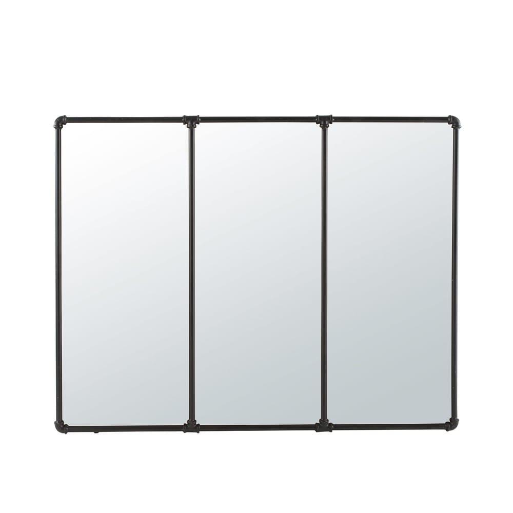 Miroir en métal noir 119x95 Newton   Maisons du Monde