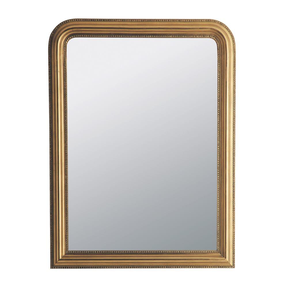 miroir en paulownia dor 90x120 celeste maisons du monde. Black Bedroom Furniture Sets. Home Design Ideas