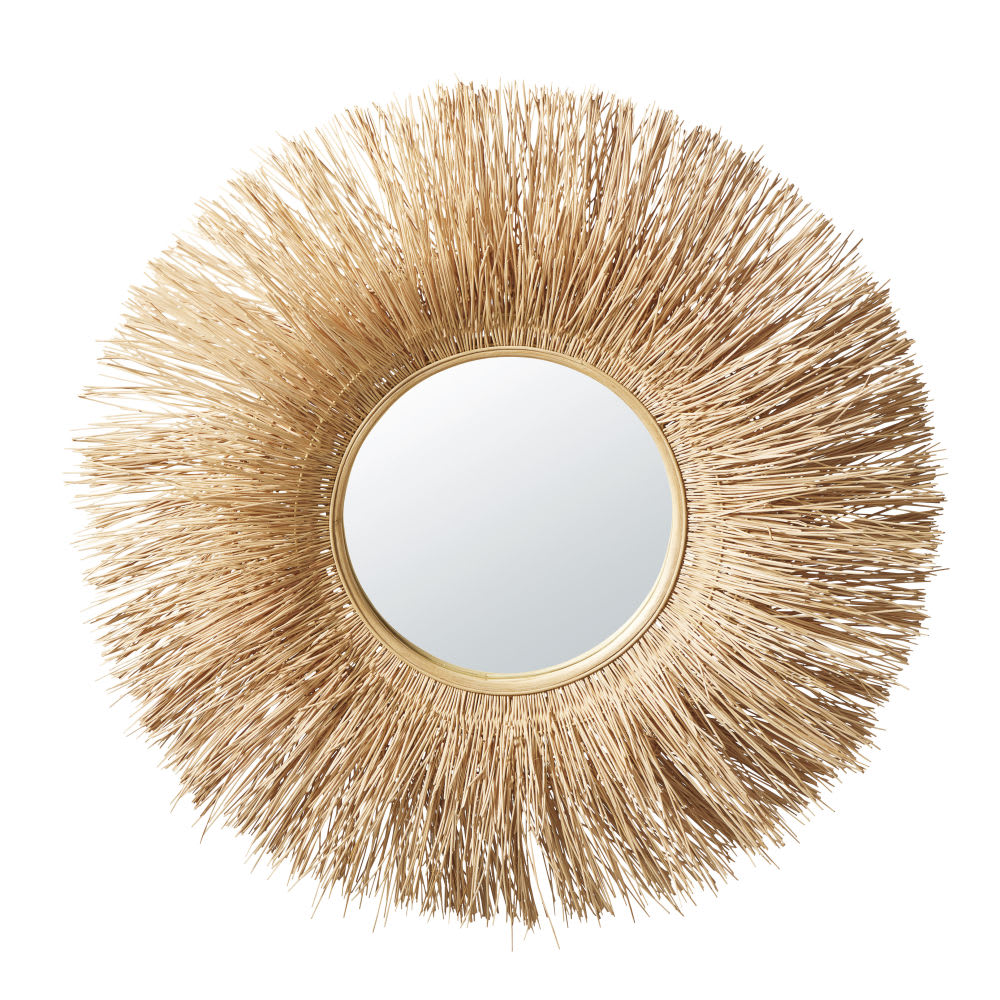 Miroir en rotin d98 nairobi maisons du monde - Miroir en rotin ...