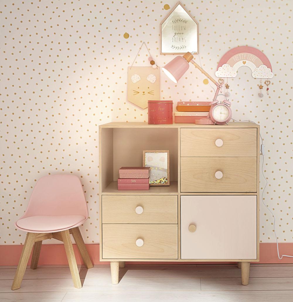 miroir maison imprim dor 23x32 lou maisons du monde. Black Bedroom Furniture Sets. Home Design Ideas