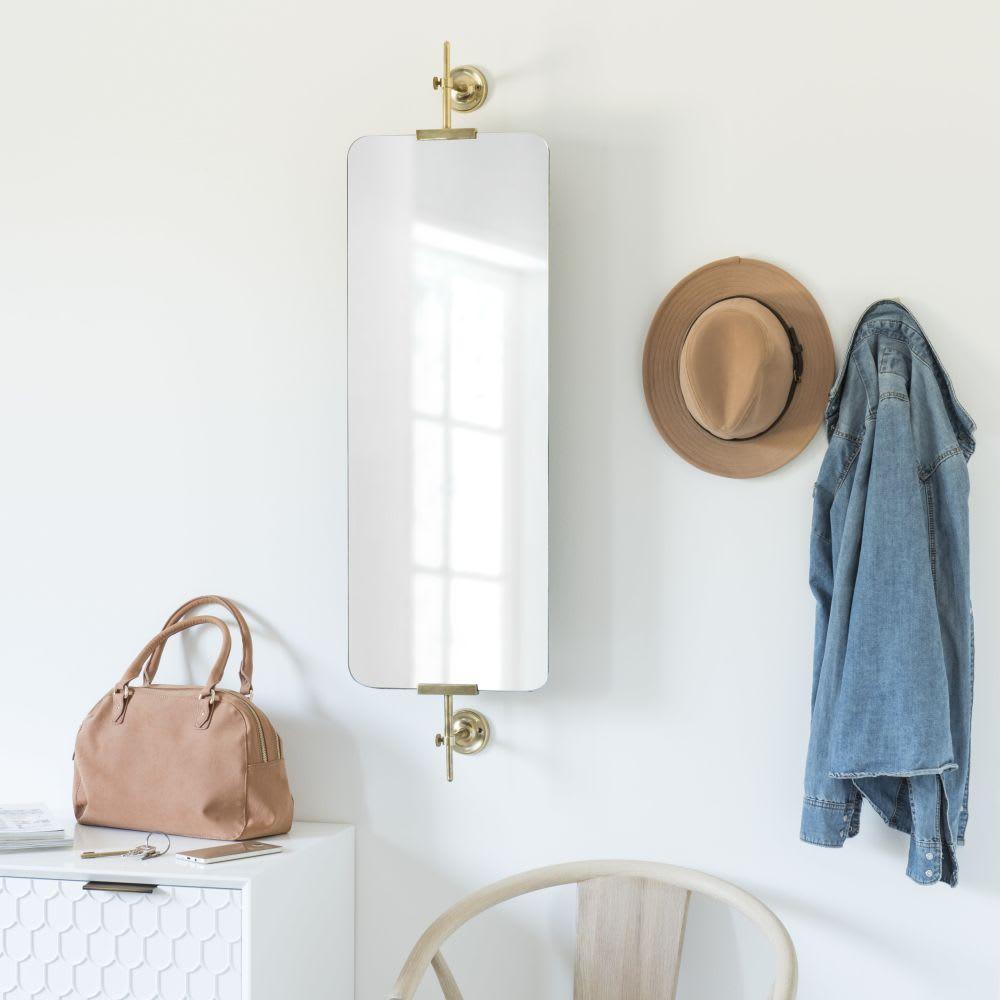 miroir orientable en m tal dor 30x107 ashley maisons du. Black Bedroom Furniture Sets. Home Design Ideas