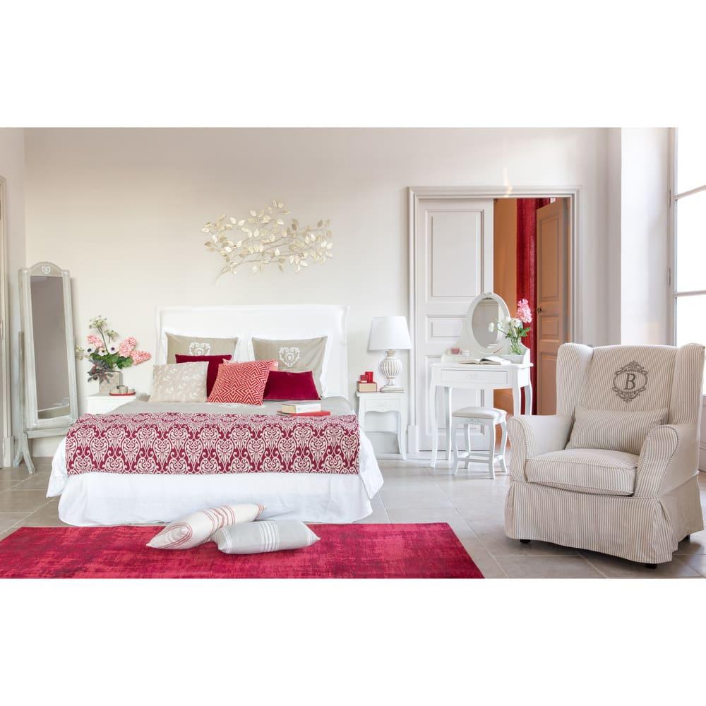 miroir psych porte bijoux en paulownia blanchi 42x160. Black Bedroom Furniture Sets. Home Design Ideas