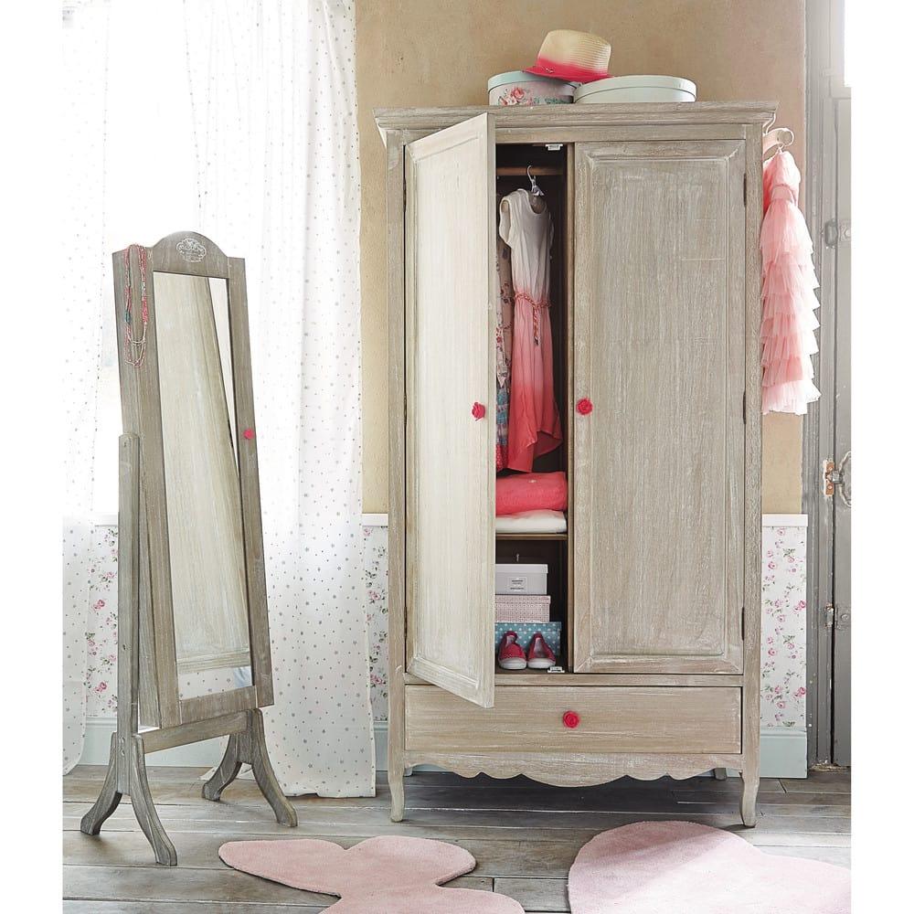 Miroir psyché porte-bijoux H 160 cm Angélique | Maisons du Monde