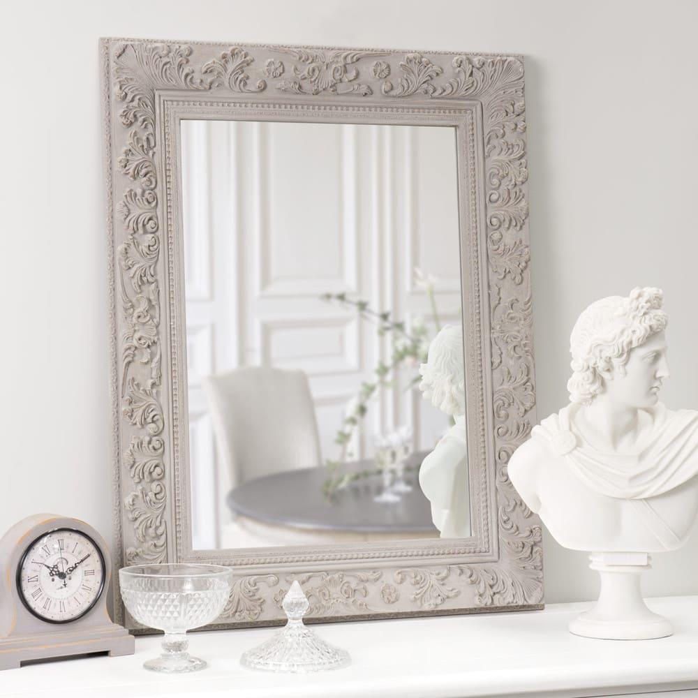 Miroir Rectangulaire Beige H 90 Cm Alienor Maisons Du Monde