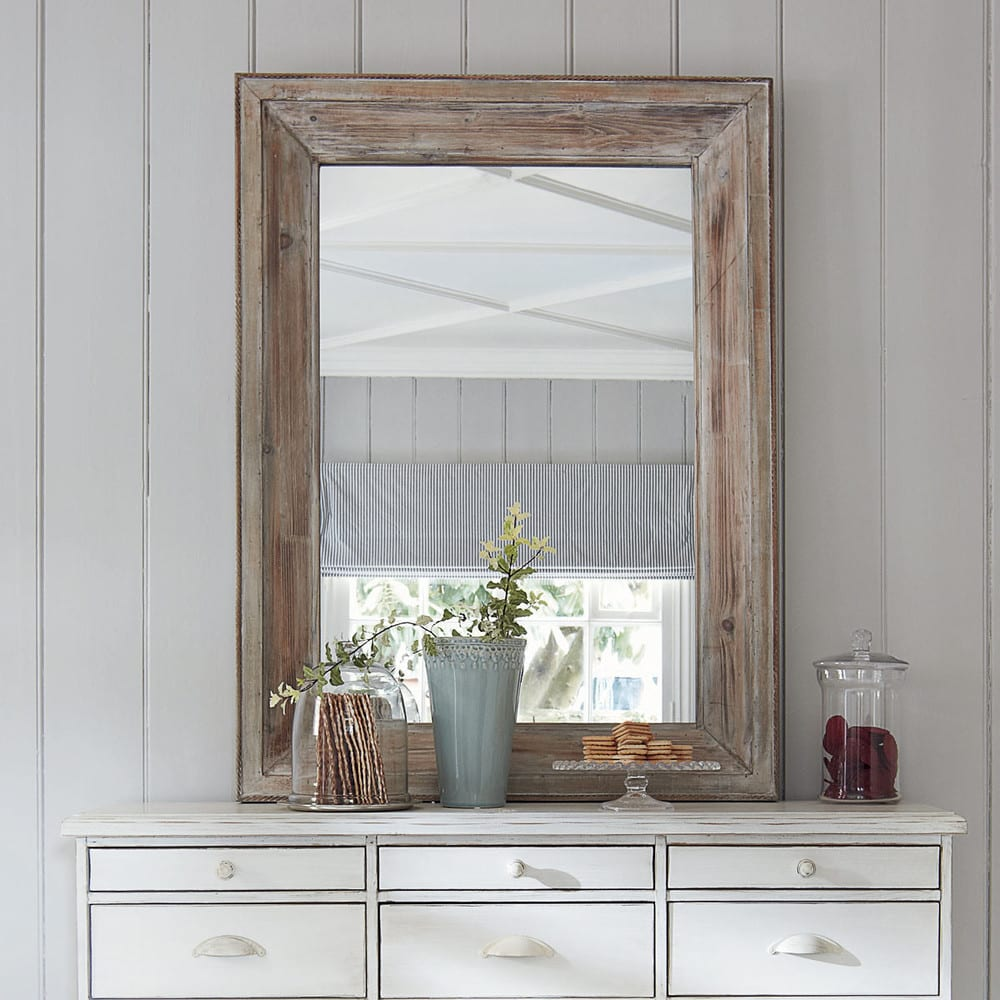 Miroir Rectangulaire Blanchi H 112 Cm Perrine Maisons Du Monde