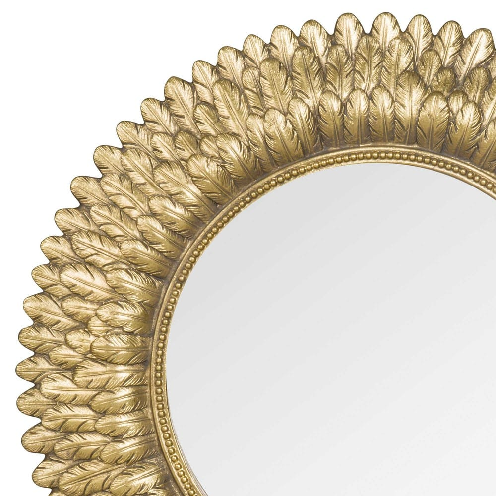 miroir rond dor d39 montauk maisons du monde. Black Bedroom Furniture Sets. Home Design Ideas