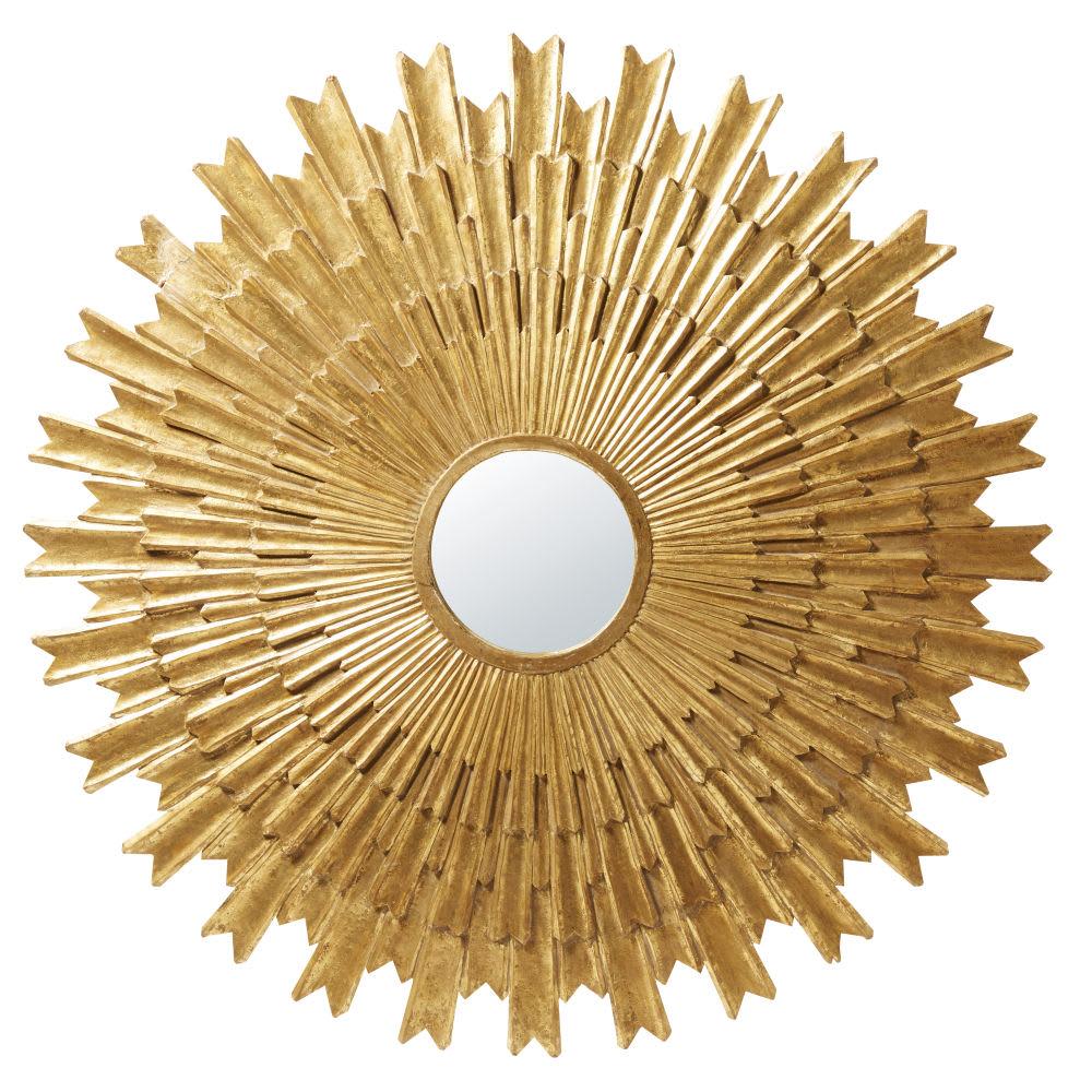 miroir rond dor vieilli d138 irina maisons du monde. Black Bedroom Furniture Sets. Home Design Ideas