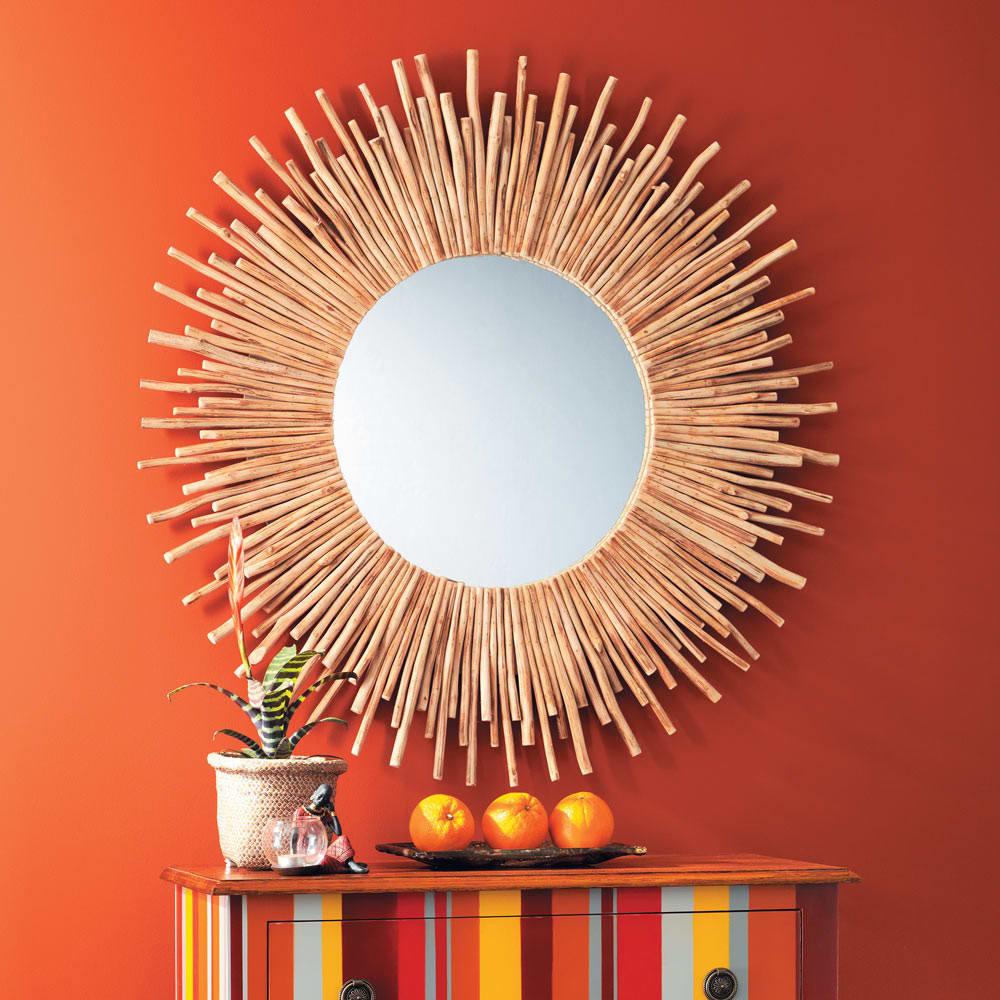 Miroir rond en bois flotté D 110 cm Kampar   Maisons du Monde