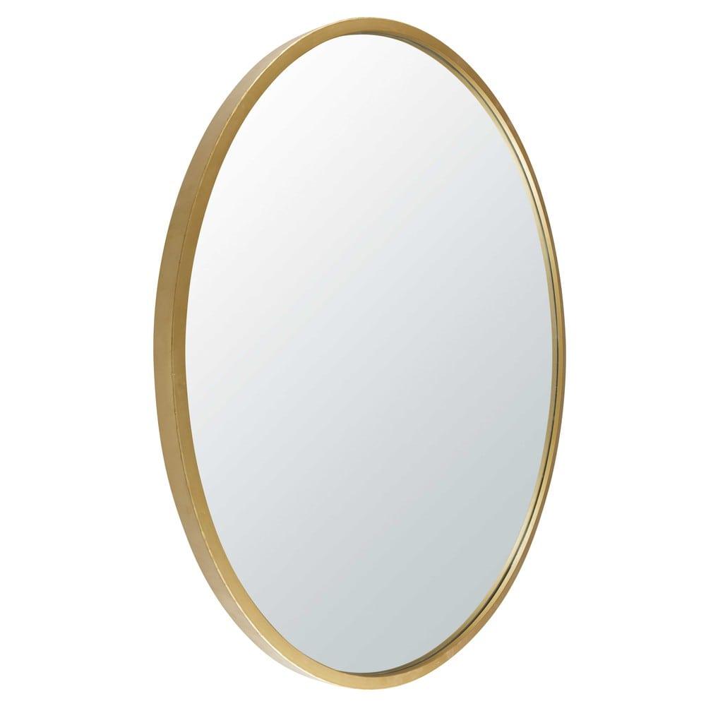 miroir rond en m tal dor stratford maisons du monde. Black Bedroom Furniture Sets. Home Design Ideas