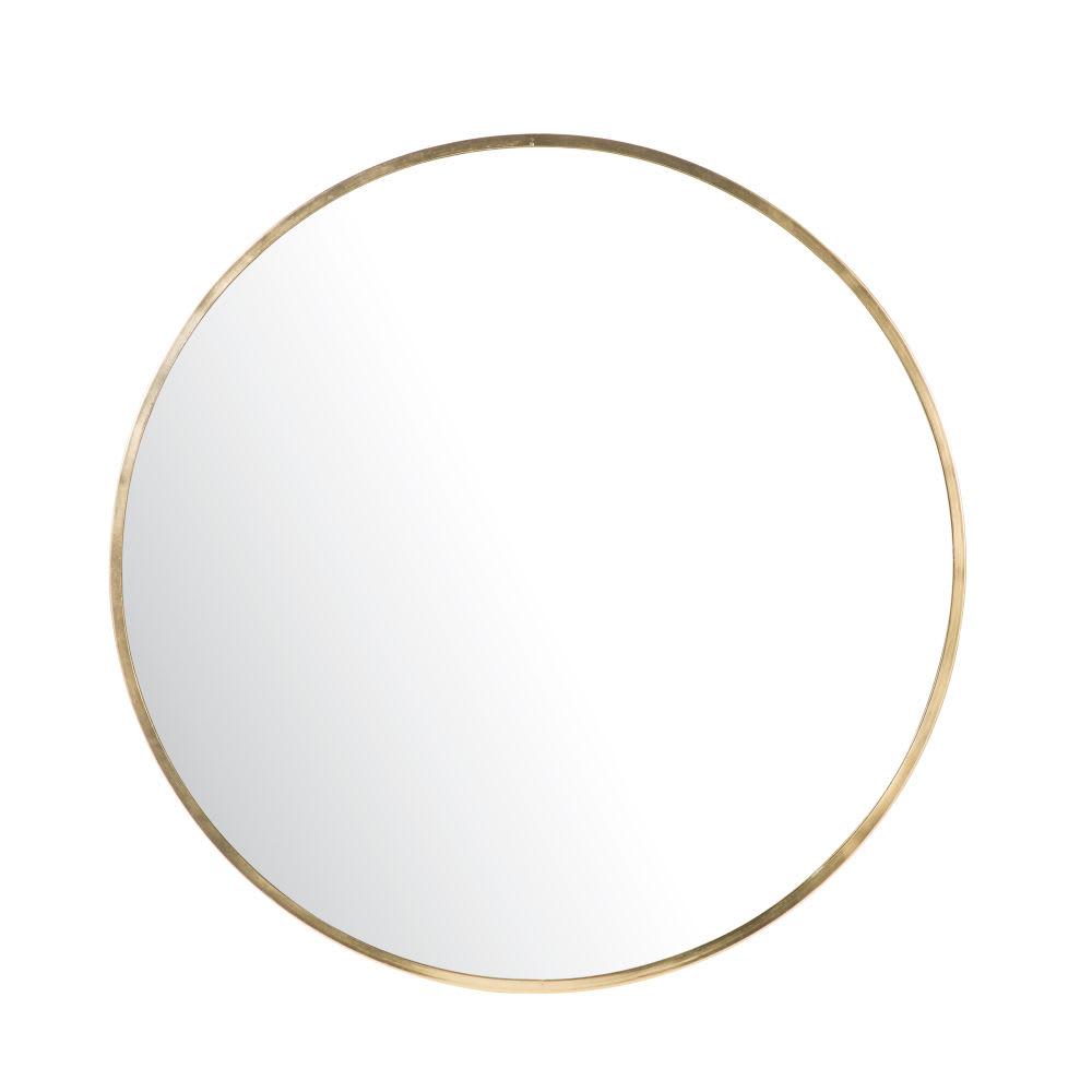miroir rond en m tal dor d101 sora maisons du monde. Black Bedroom Furniture Sets. Home Design Ideas