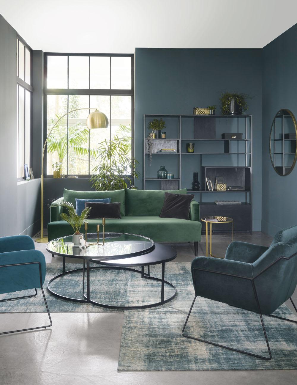 miroir rond en m tal dor d110 janet maisons du monde. Black Bedroom Furniture Sets. Home Design Ideas