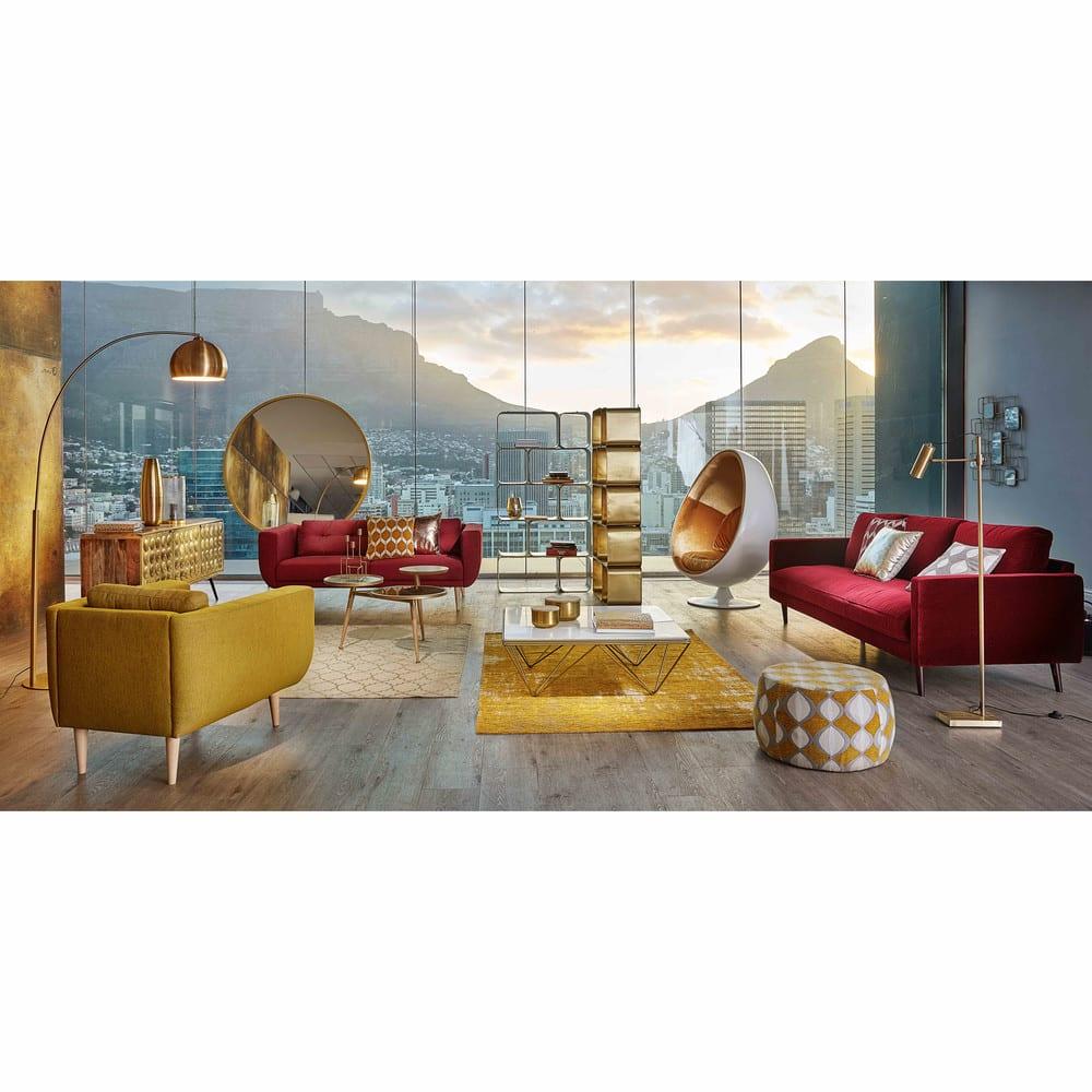 miroir rond en m tal dor d159 stratford maisons du monde. Black Bedroom Furniture Sets. Home Design Ideas