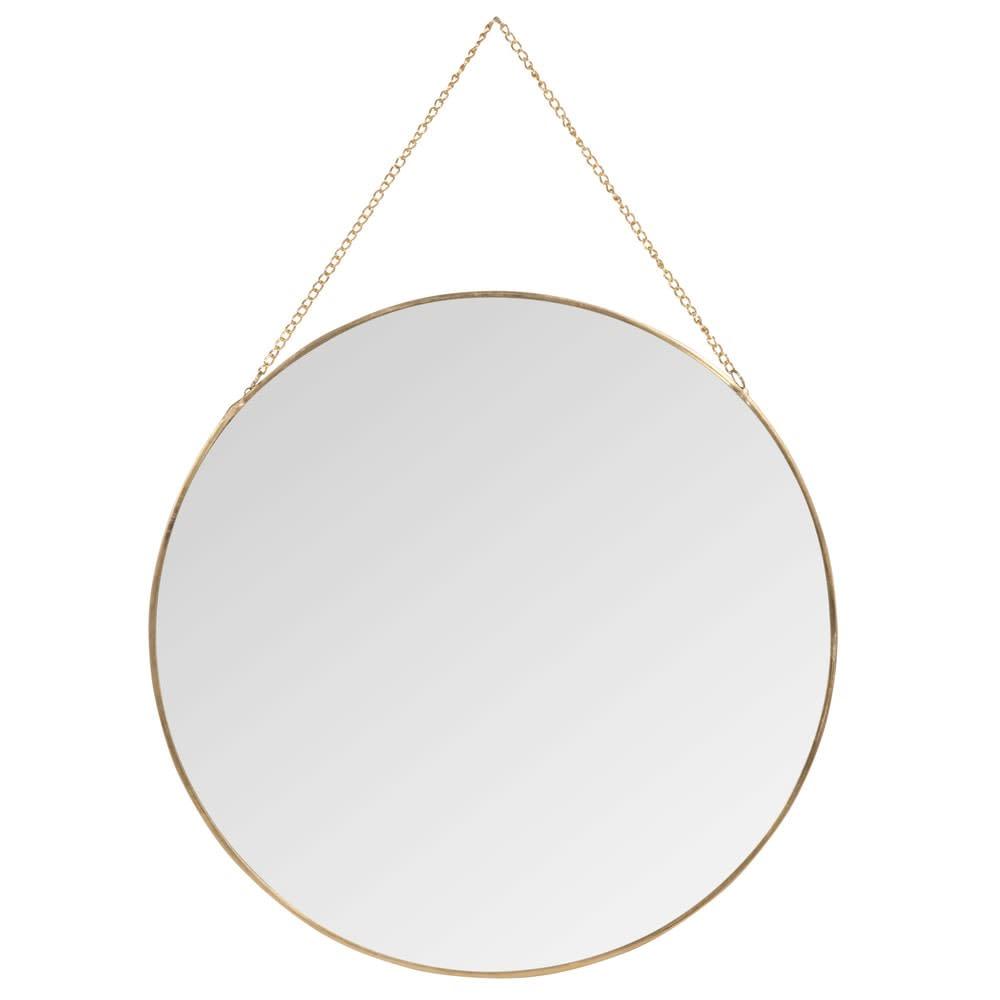 miroir rond en m tal dor d30 elysia maisons du monde. Black Bedroom Furniture Sets. Home Design Ideas