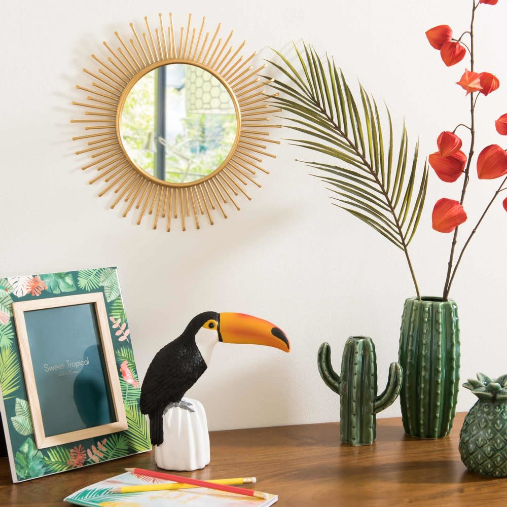 miroir rond en m tal dor d31 solane maisons du monde. Black Bedroom Furniture Sets. Home Design Ideas